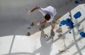 DIY Pool repair, Pool Paint and paint finishes