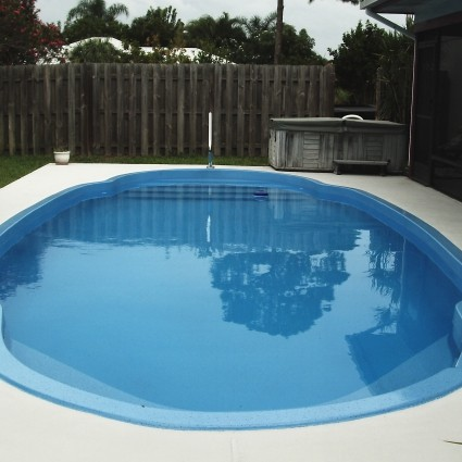 Residential Pool resurfacing with AquaGuard 5000