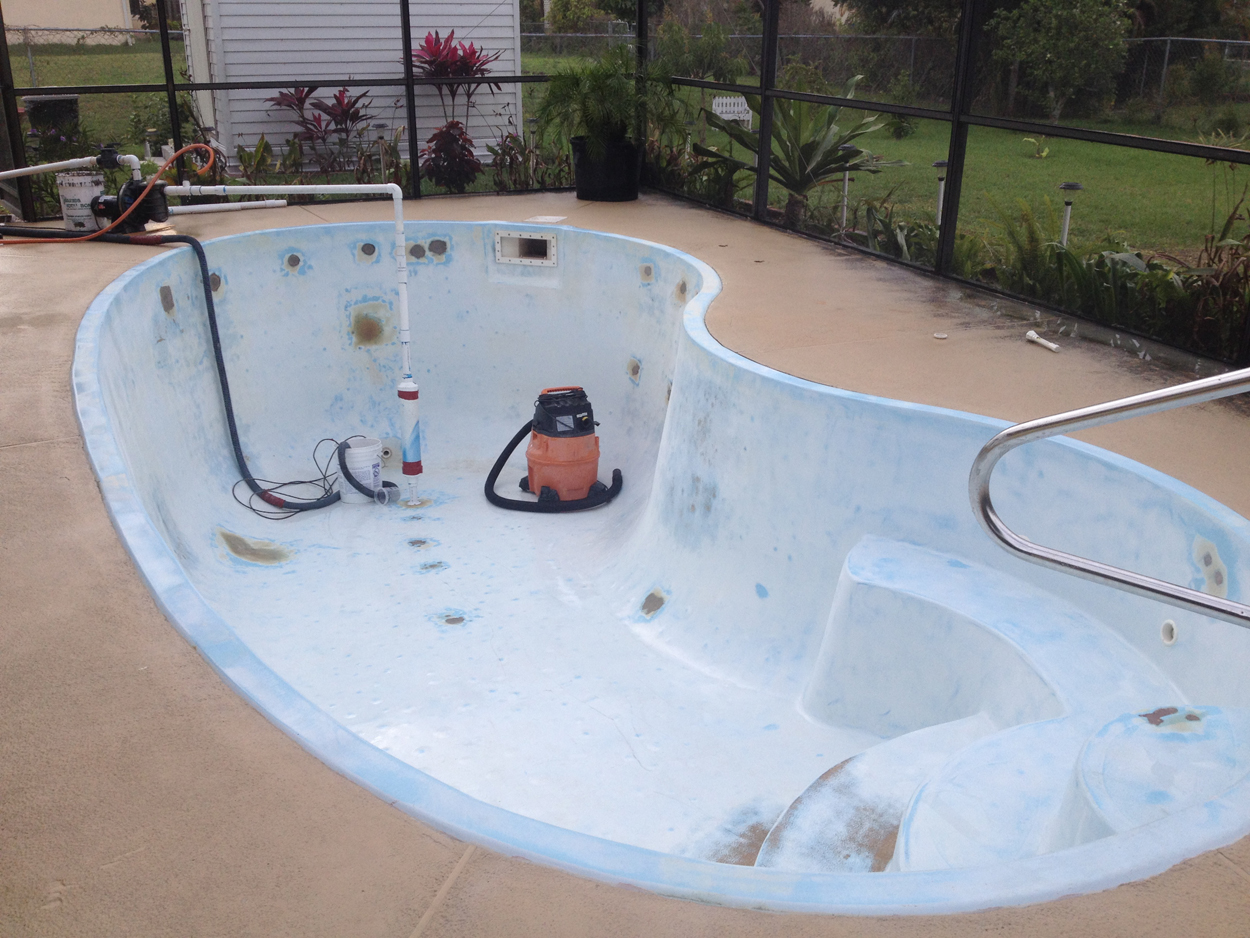 Residential Pool Resurfaced With Aqua Guard 5000
