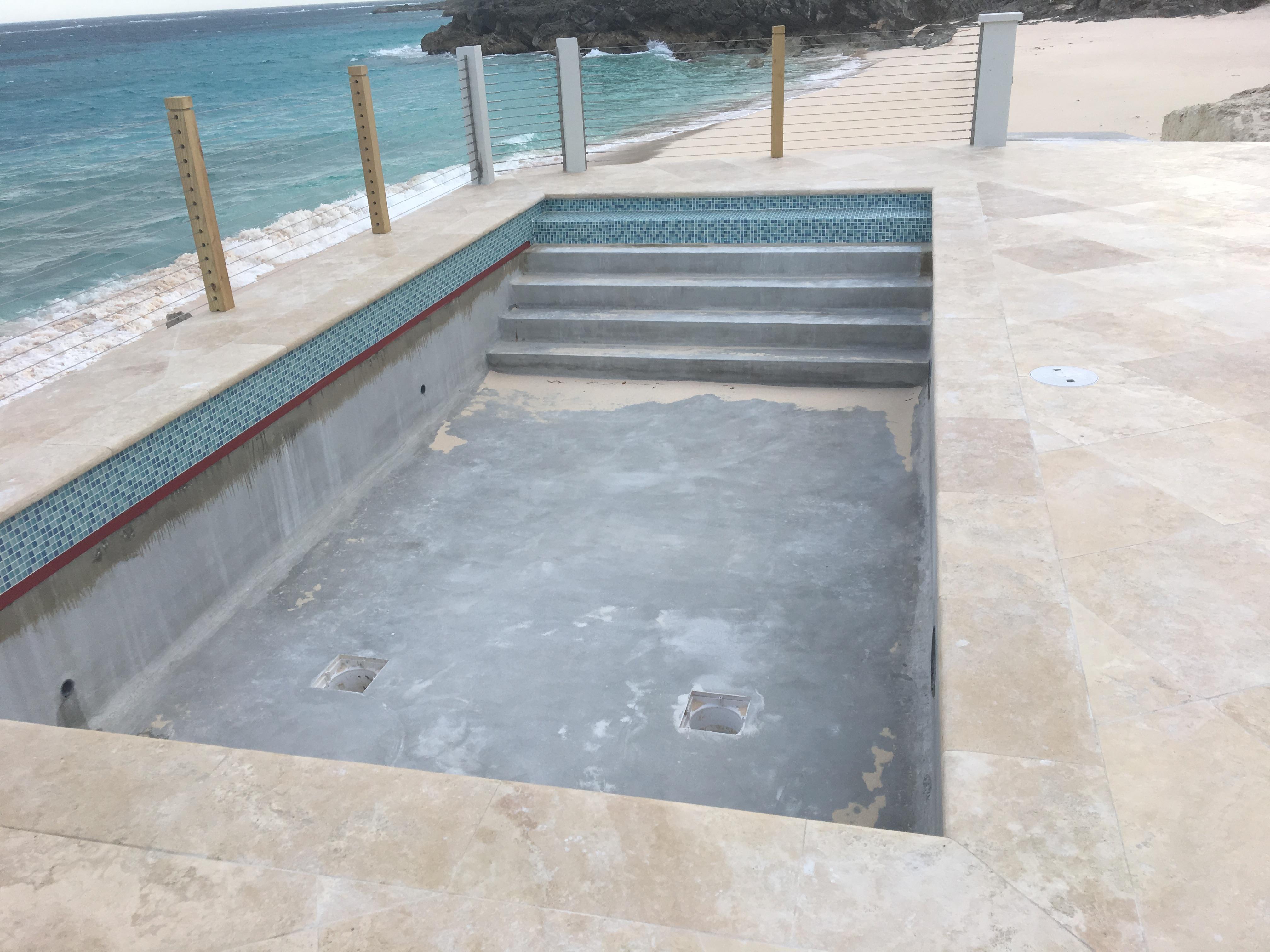 Bermuda Commercial Epoxy Swimming Pool Paint Project Aqua Guard 5000