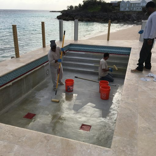 Bermuda - Commercial Epoxy Swimming Pool Paint Project