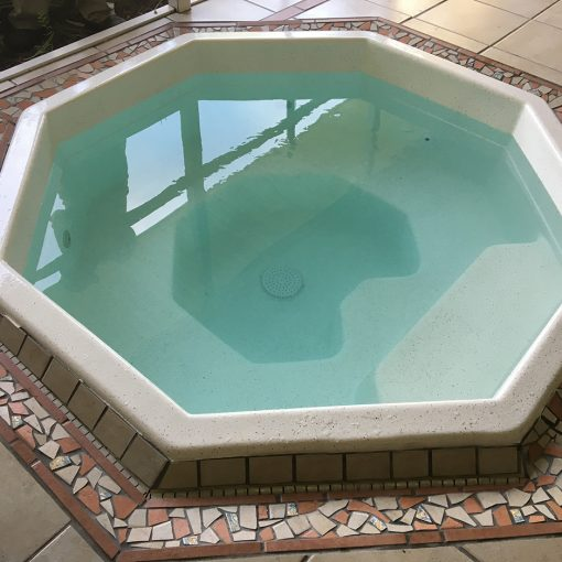 Residential hot tub/spa resurfacing with AquaGuard 5000 Epoxy Pool Paint