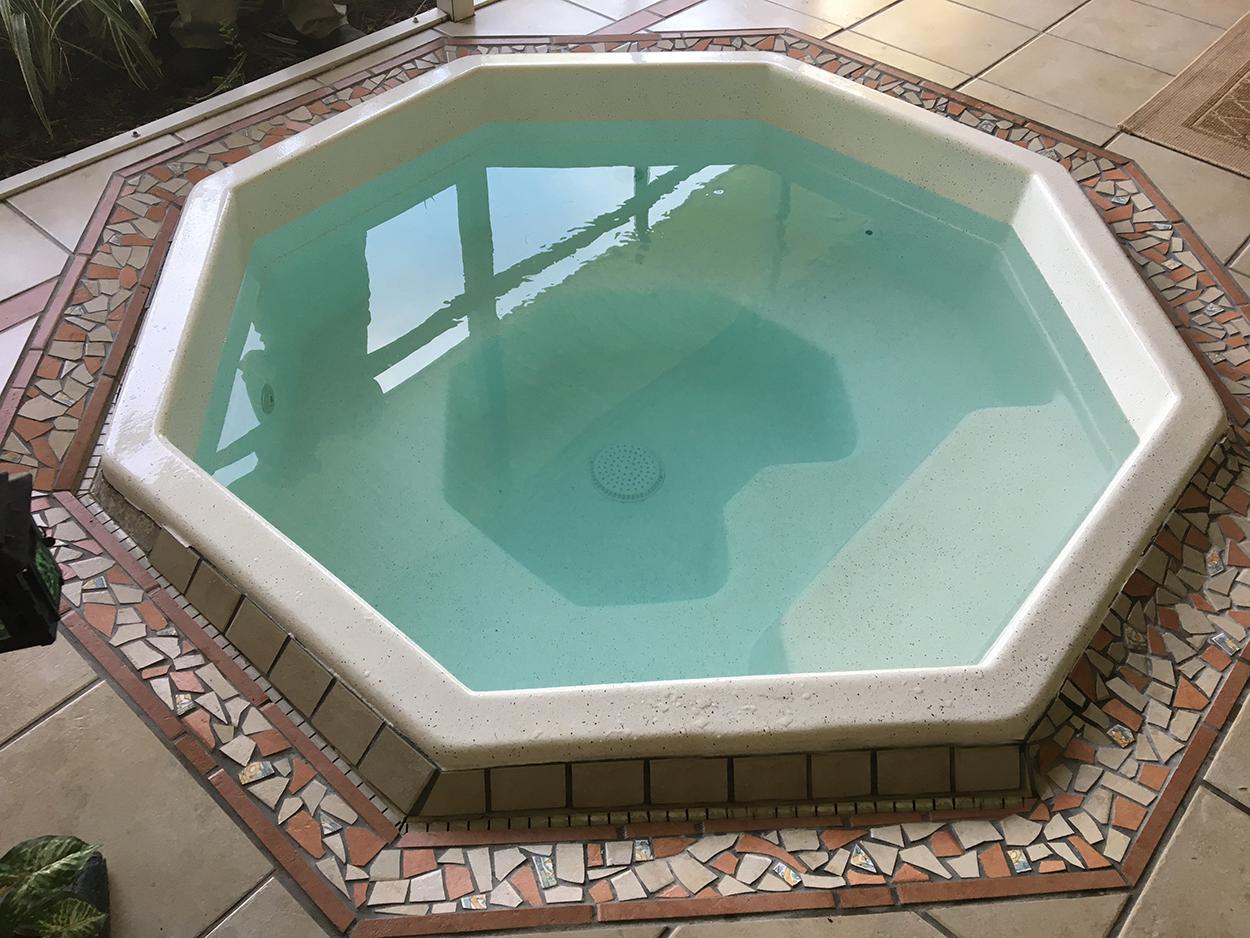 Residential hot tub/spa resurfacing with AquaGuard 5000 Epoxy Pool Paint