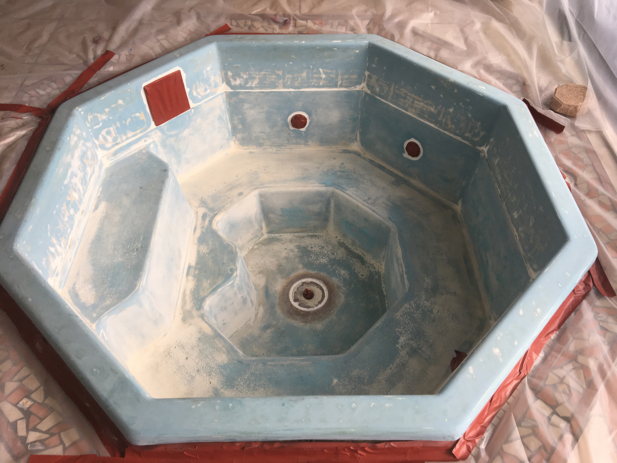Residential hot tub/spa resurfacing with AquaGuard 5000 Epoxy Pool ...