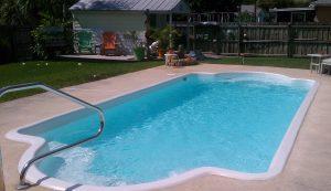Fiberglass Pool restoration with Epoxy pool paint