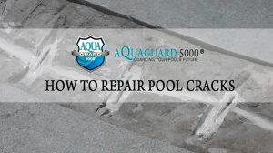 How to repair a pool crack