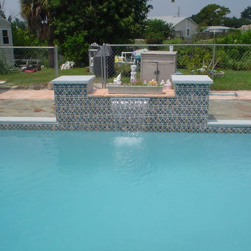 Residential Pool Water Feature