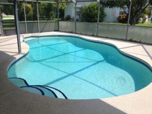 Residential pool resurfacing